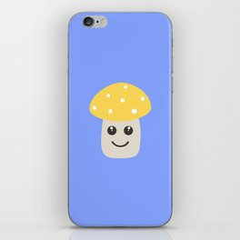 Cute yellow toadstool iPhone Skin