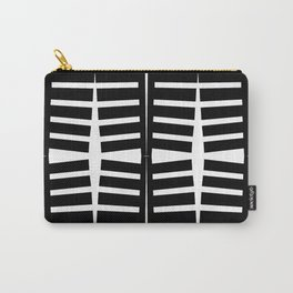 grid. abstract ribs. black and white pattern Carry-All Pouch