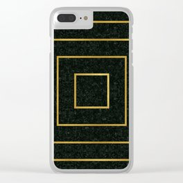 Golden Squares Clear iPhone Case