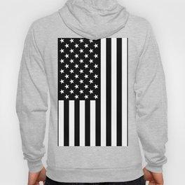Black and White American Flag Hoody