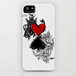 Love Hate iPhone Case