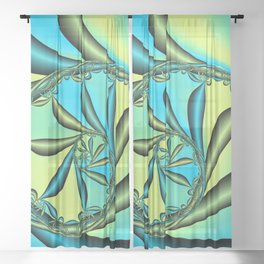 River Vine Fractal Sheer Curtain