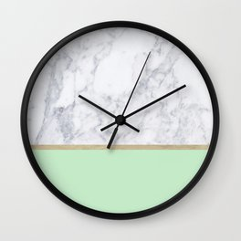 MINT MARBLE GOLD Wall Clock