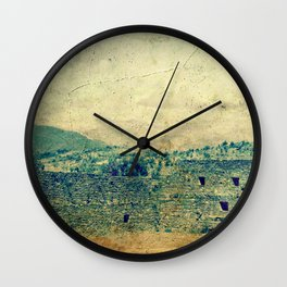 Vintage forgotten town in the desert Wall Clock