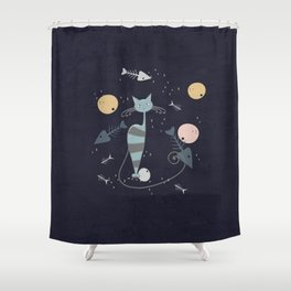Cats are the best friends Shower Curtain