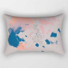 """""""It Was Here In The Setting Sun When The Day Was Almost Done, I Was Reminded Of All That Was Beautiful. I Was Reminded Of All That Was Holy."""" Rectangular Pillow"""