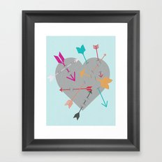 Arrow Heart Framed Art Print