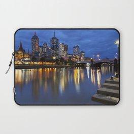 I - Skyline of Melbourne, Australia across the Yarra River at night Laptop Sleeve