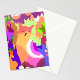 Cat with Abstract Background Stationery Cards