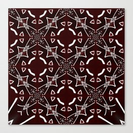 Red and White pattern Canvas Print