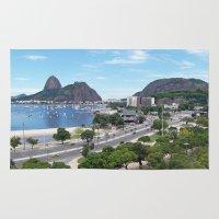 rio de janeiro Area & Throw Rugs featuring Rio de Janeiro Landscape by Fernando Macedo