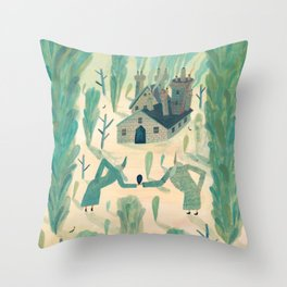 A Wizard's Garden Throw Pillow