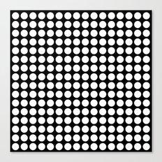 Black and white polka dot pattern . Canvas Print