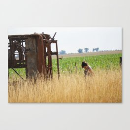 Anabella in the field Canvas Print