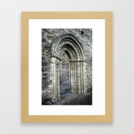 Gate at Royal Abbey of Cong, Ireland Framed Art Print