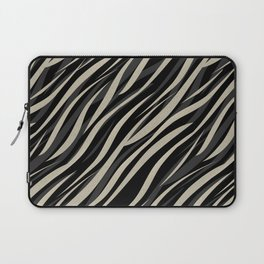 Tiger abstract striped pattern . Laptop Sleeve