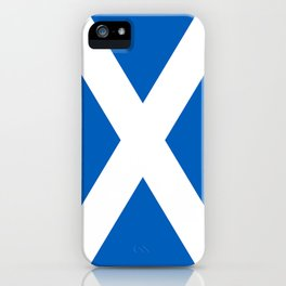 National flag of Scotland - Authentic version to scale and color iPhone Case