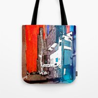 hong kong Tote Bags featuring Hong Kong by Jonas Ericson