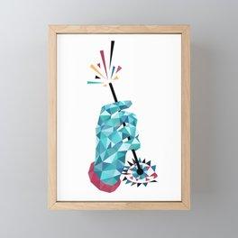Something in the Eye Framed Mini Art Print