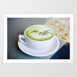 Tea Time With Matcha Art Print
