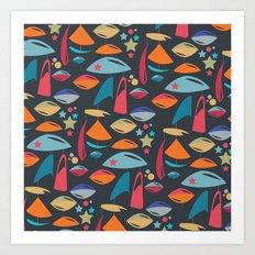Abstract Atomics 2 Art Print