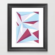 Maroon & sky  Framed Art Print