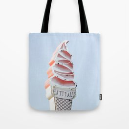 Ice cream eat neon Tote Bag