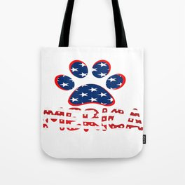 AMERICAN DOG PAW PRINT Tote Bag