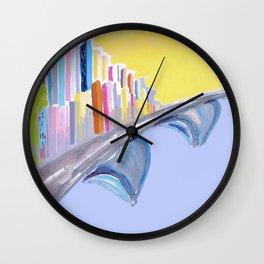 Passing Through Wall Clock
