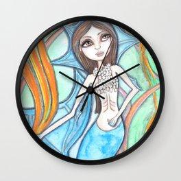 Mermaid Blue Wall Clock