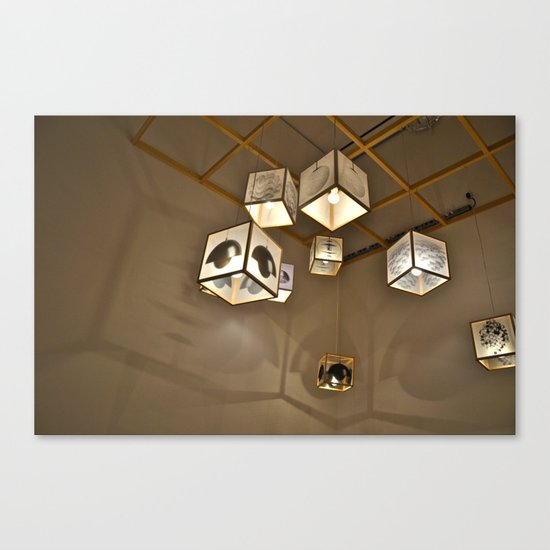 Floating Box Lamps Canvas Print