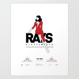 Rays - Poster Art Print