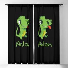 Anton boy name gift for Anton Blackout Curtain