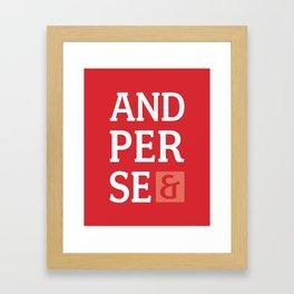Ampersand Series - #5 Framed Art Print