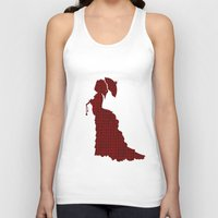 victorian Tank Tops featuring VICTORIAN WOMAN by Caio Trindade