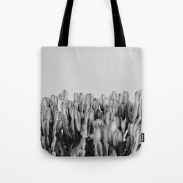 Cactus And Sky. Bw Tote Bag