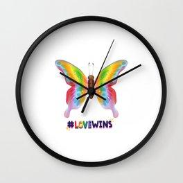 LGBTQ   LGBT   Rainbow   Bisexual   Gay   Transgender   Lesbian   Equality   Love   Pride Wall Clock