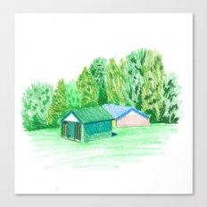 Park Buildings Canvas Print