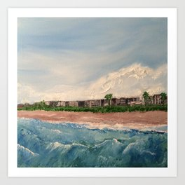 Cocoa Beach  Oil on canvas Art Print