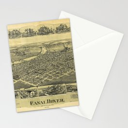 Aerial View of Canal Dover, Ohio (1899) Stationery Cards