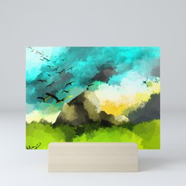 Mountain Peeks Mini Art Print