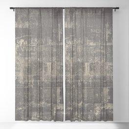 Wall Writings Sheer Curtain