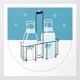 Milk Clock Art Print
