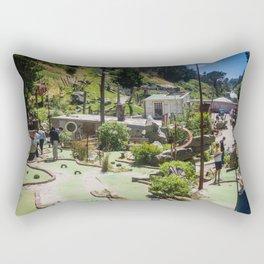 Playing Mini Golf Rectangular Pillow