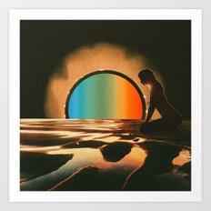 Sunset meditate Art Print