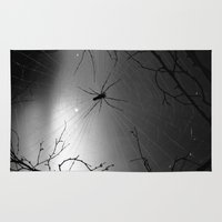 spider Area & Throw Rugs featuring Spider by Gwlad Sas