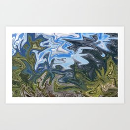 Skies from Above Art Print