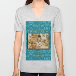 Sherlock Ferret and the Missing Necklace (cover) Unisex V-Neck