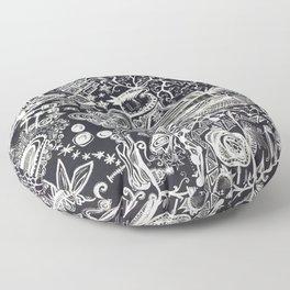 White/Black #2  Floor Pillow