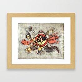 YM Japanese Tails Framed Art Print